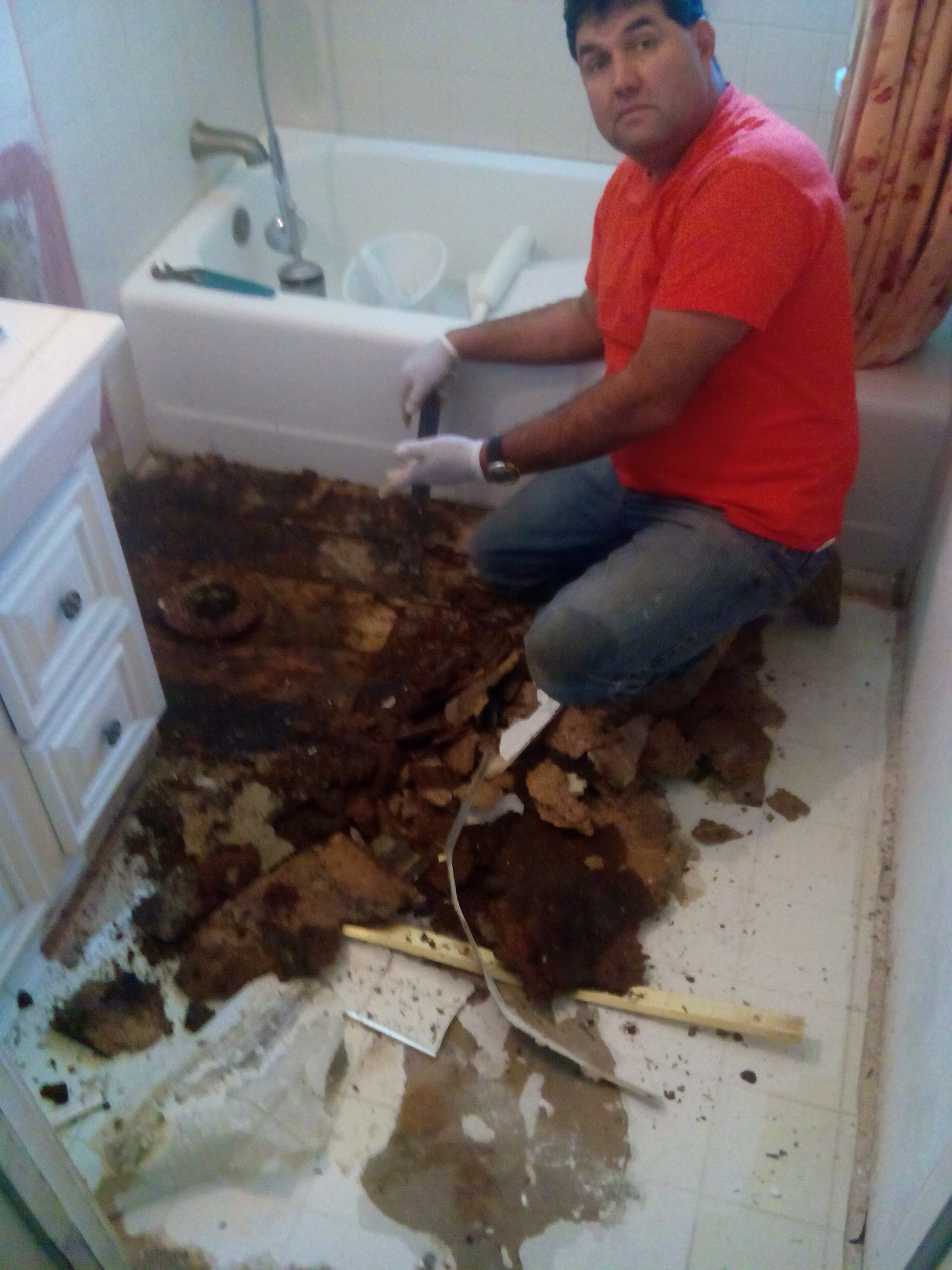 Repair Bathroom Floor Bathroom Floor Repair Rental Unit Alicia Natividad Construction